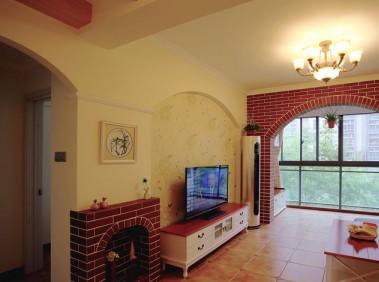 荆州79平美式田园两居室