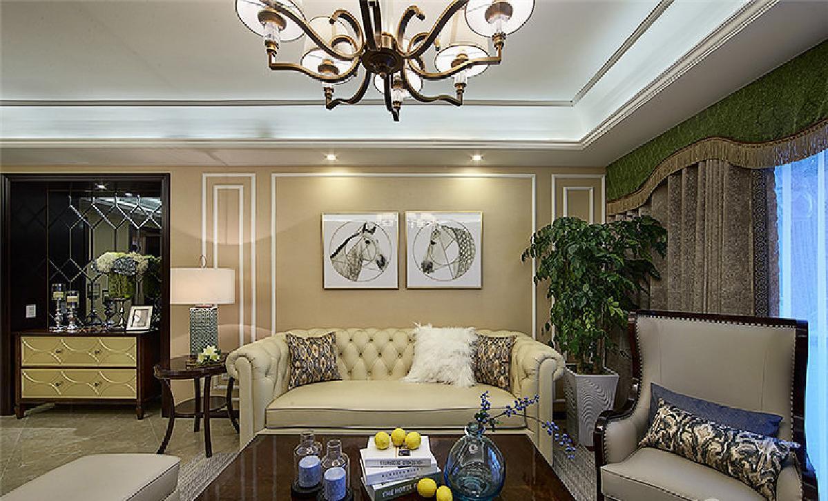 荆州135平美式新古典3居