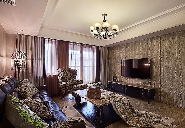 荆州新古典120平现代美式3居