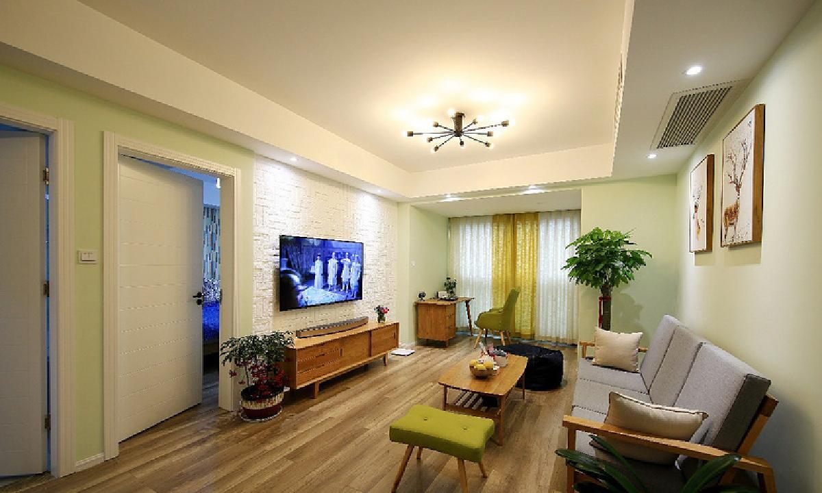 荆州85平北欧混搭二居室