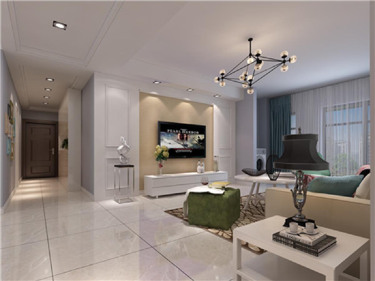 荆州三室两厅北欧风格装修设计
