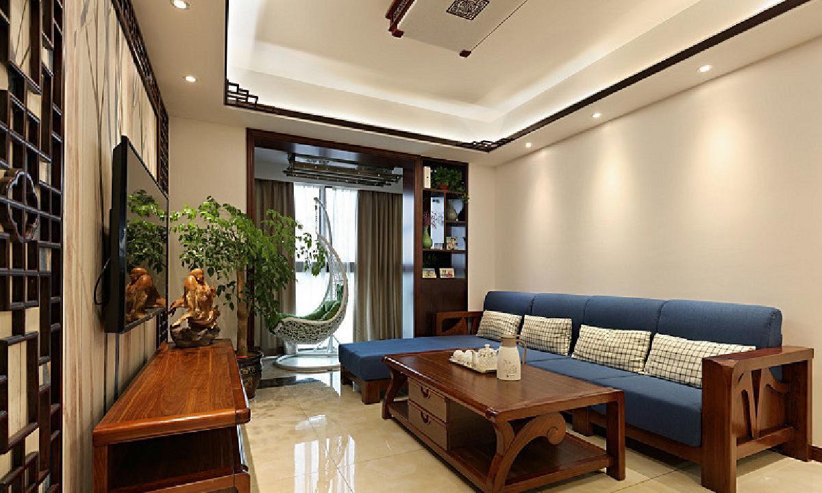 荆州110平现代中式3居