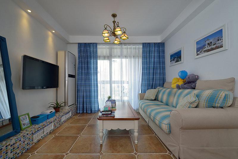 荆州120平蓝调地中海的新房