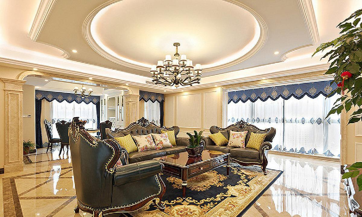 荆州128平现代欧式华丽3居   高贵典雅